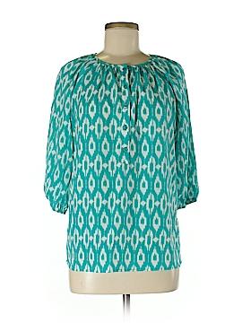 Aqua 3/4 Sleeve Blouse Size M