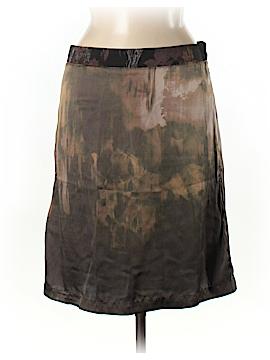 Diesel Black Gold Silk Skirt 28 Waist
