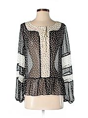 Elle Women Long Sleeve Blouse Size S