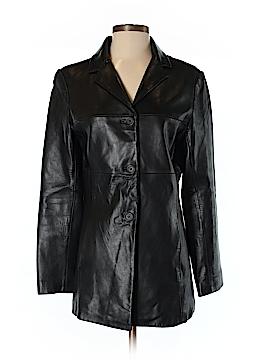 Jones New York Faux Leather Jacket Size S