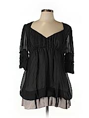 Tony Cohen Women Short Sleeve Silk Top Size M