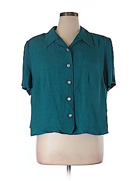 Jessica Howard Short Sleeve Button-Down Shirt Size 18 (Plus)