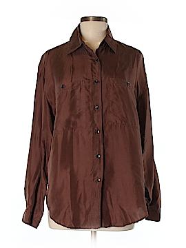 Jonathan Martin Long Sleeve Silk Top Size M