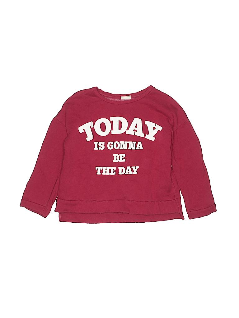 c2a3f279 Zara Graphic Red Sweatshirt Size 8 - 90% off | thredUP