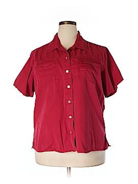 Carolina Blues Short Sleeve Button-Down Shirt Size 20 (Plus)