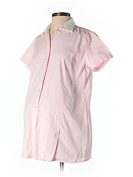 Zero 2 Nine Short Sleeve Button-Down Shirt Size S (Maternity)
