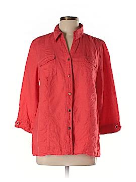 JM Studio 3/4 Sleeve Button-Down Shirt Size 12