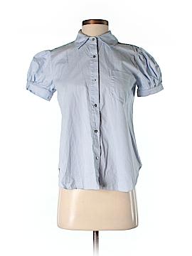 The Man Repeller x PJK Short Sleeve Button-Down Shirt Size XS