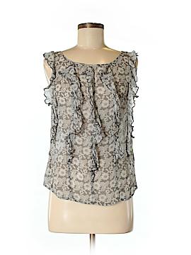 Garnet Hill Sleeveless Silk Top Size 4