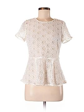 Aryn K. Short Sleeve Blouse Size M