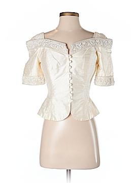 Watters & Watters Short Sleeve Silk Top Size 4