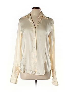 Farinaz Taghavi Long Sleeve Silk Top Size 12