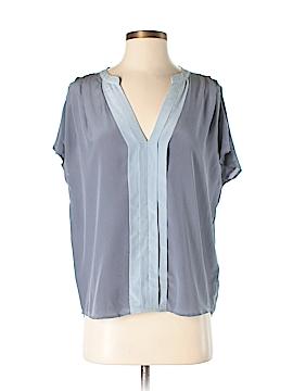 Scoop NYC Short Sleeve Silk Top Size S