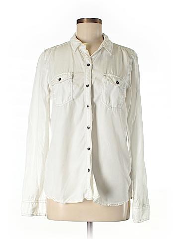 Halogen Long Sleeve Button-Down Shirt Size M