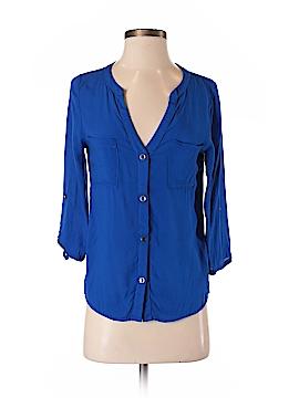 Needle & Thread 3/4 Sleeve Button-Down Shirt Size S