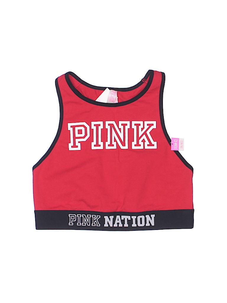 f6a1e53236 Victoria s Secret Pink Graphic Color Block Red Sports Bra Size S ...