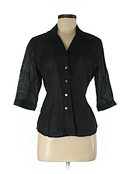 Linda Allard Ellen Tracy 3/4 Sleeve Button-Down Shirt Size 8 (Petite)