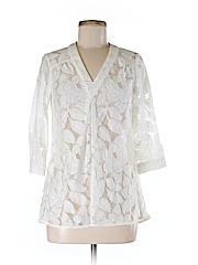 Annie Griffin Women 3/4 Sleeve Blouse Size XS