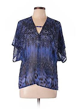 Ecru Short Sleeve Blouse Size S