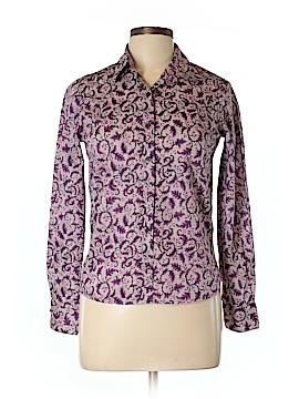 Brora Long Sleeve Button-Down Shirt Size 10