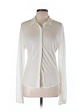 Majestic Filatures Long Sleeve Button-Down Shirt Size Lg (3)
