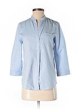Massimo Dutti 3/4 Sleeve Button-Down Shirt Size 4