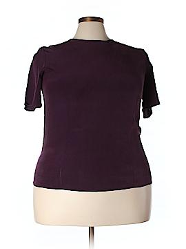 Christie & Jill Short Sleeve Silk Top Size 18 (Plus)