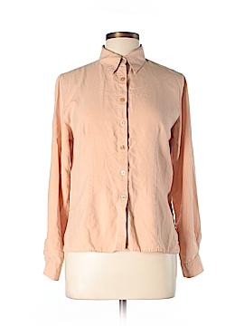 Van Heusen Long Sleeve Silk Top Size M