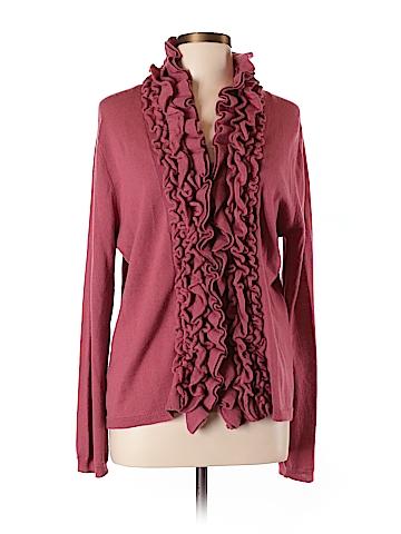 Garnet Hill Wool Cardigan Size L