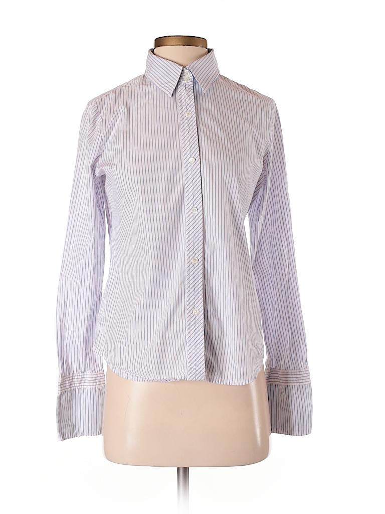 8d4a12344644fe Express 100% Cotton Stripes Light Pink Long Sleeve Button-Down Shirt ...