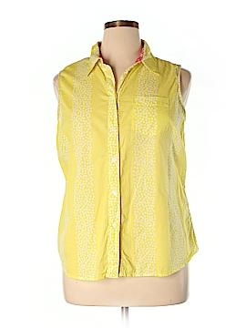 Boden Sleeveless Button-Down Shirt Size 14