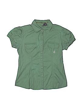 Passport Short Sleeve Button-Down Shirt Size M