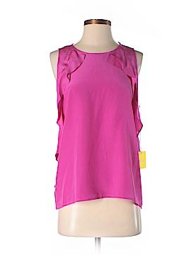 Aaron Ashe Sleeveless Silk Top Size S