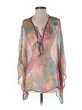 ...Trinity 3/4 Sleeve Silk Top Size S