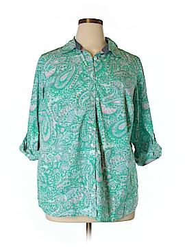 Charter Club Long Sleeve Button-Down Shirt Size 16W
