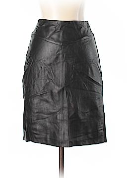 Bordeaux Leather Skirt Size S