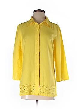 Oscar by Oscar De La Renta 3/4 Sleeve Button-Down Shirt Size 4
