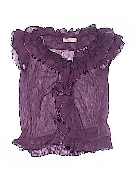 Pretty Angel Short Sleeve Silk Top Size L