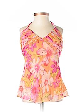 ICE Sleeveless Silk Top Size S