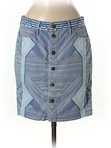 Current Elliot X Mary Katrantzou Denim Skirt 29 Waist