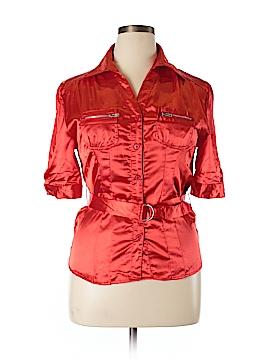 Voice Short Sleeve Blouse Size XL