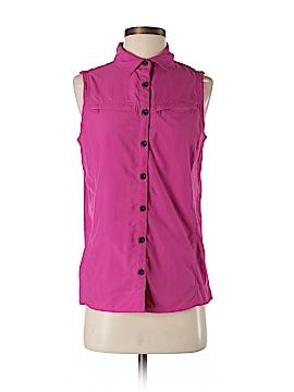 Eastern Mountain Sports Sleeveless Button-Down Shirt Size S
