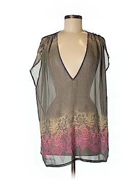 Flounce Short Sleeve Silk Top Size XS - Sm