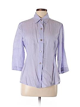 Linda Allard Ellen Tracy 3/4 Sleeve Button-Down Shirt Size 12