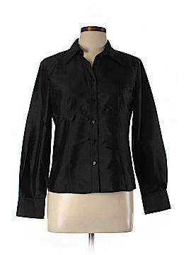 Rafaella Long Sleeve Silk Top Size 6