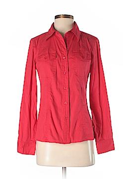 Ellen Tracy Long Sleeve Button-Down Shirt Size 2