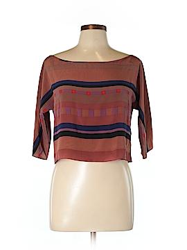 Vena Cava Short Sleeve Silk Top Size L