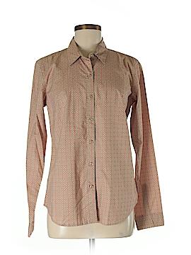 Garnet Hill Long Sleeve Button-Down Shirt Size 6