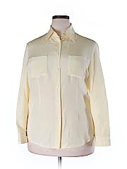 J. Peterman Long Sleeve Silk Top