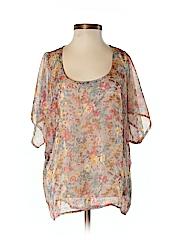 Bobeau Women Short Sleeve Blouse Size XS
